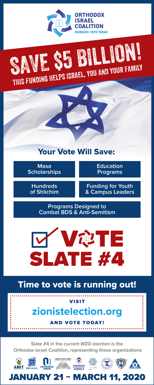 Vote for a strong Israel and upholding Jewish tradition