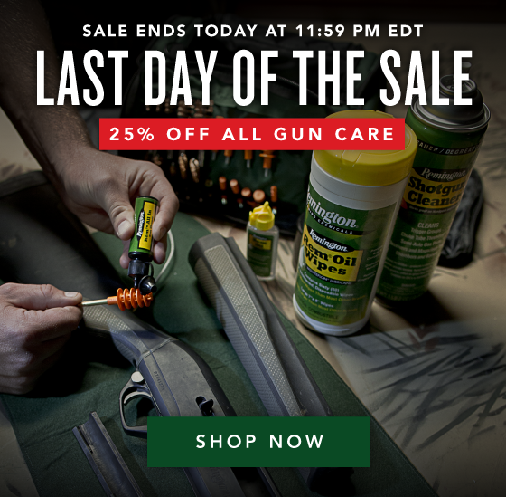 25% OFF All Gun Care - Spring Cleaning Sale