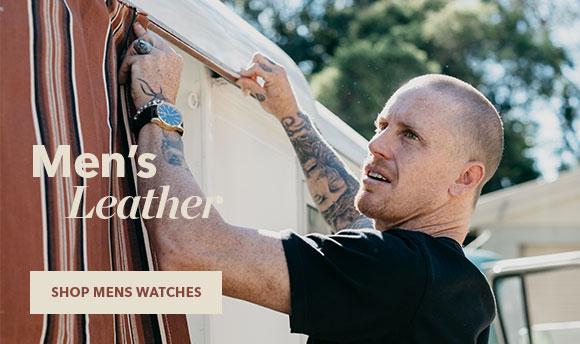 Shop Men's Nixon Leather Watches