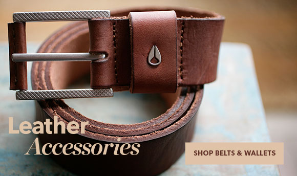 Shop Nixon Leather Belts and Wallets