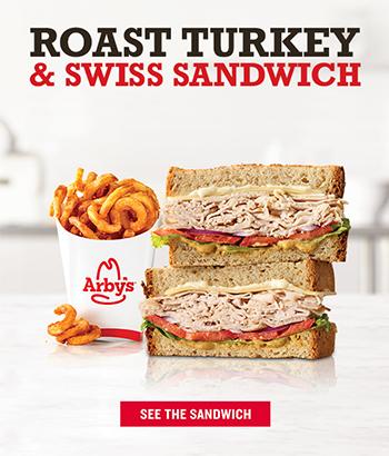 Roast Turkey & Swiss Sandwich  SEE THE SANDWICH