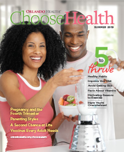 Orlando Health Choose Health Magazine Cover - Summer 2019