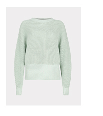 Mint Chunky Cotton Jumper