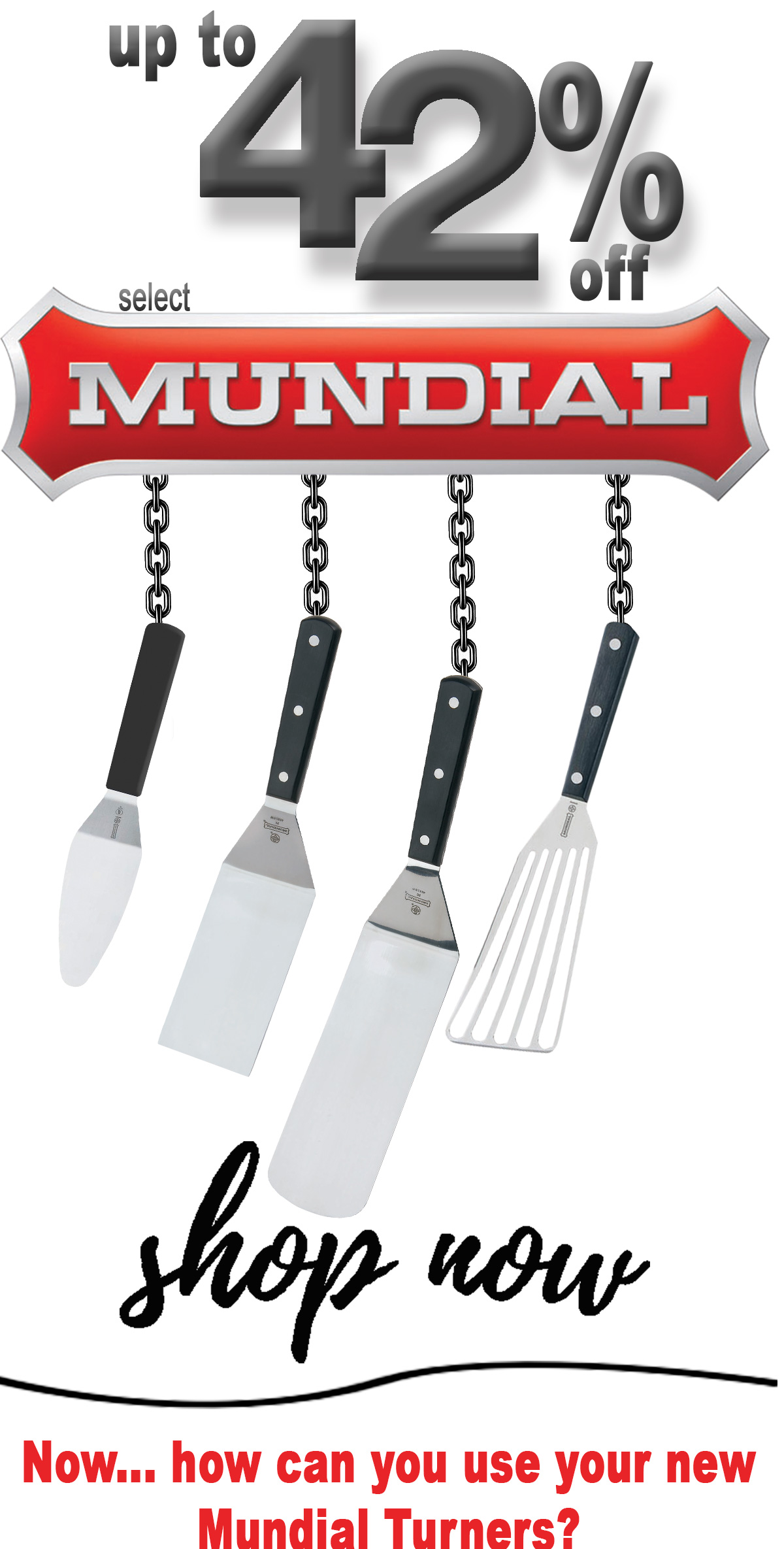 Up to 42% Off select Mundial utensils - sale ends soon!