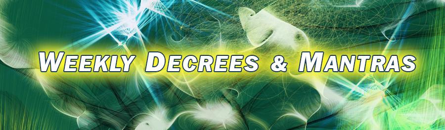 Weekly Decrees