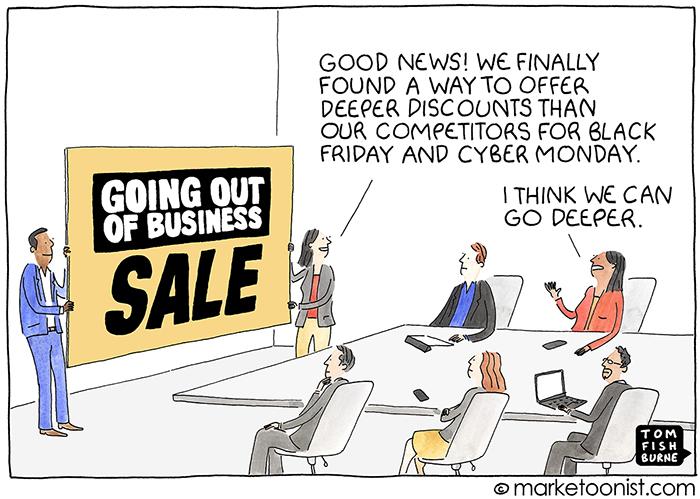 Holiday Deal Creep cartoon