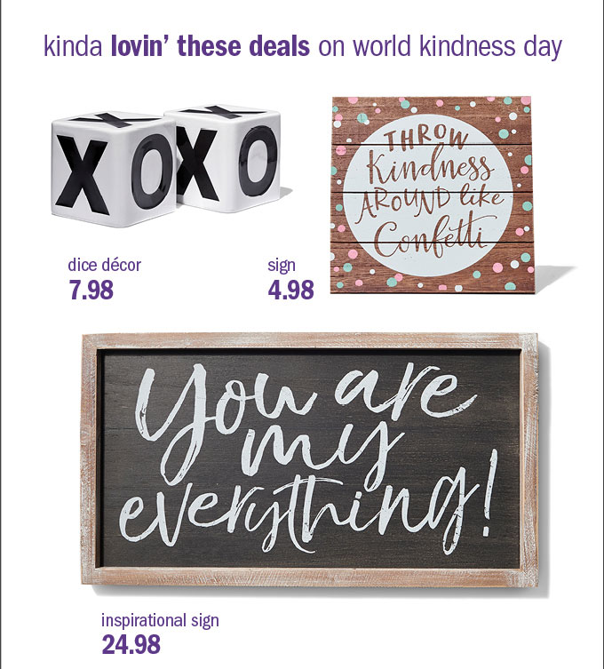 Kinda lovin' these deals on world kindness day