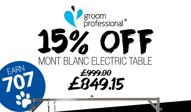 15% Off Groom Professional Mont Blanc Electric Table