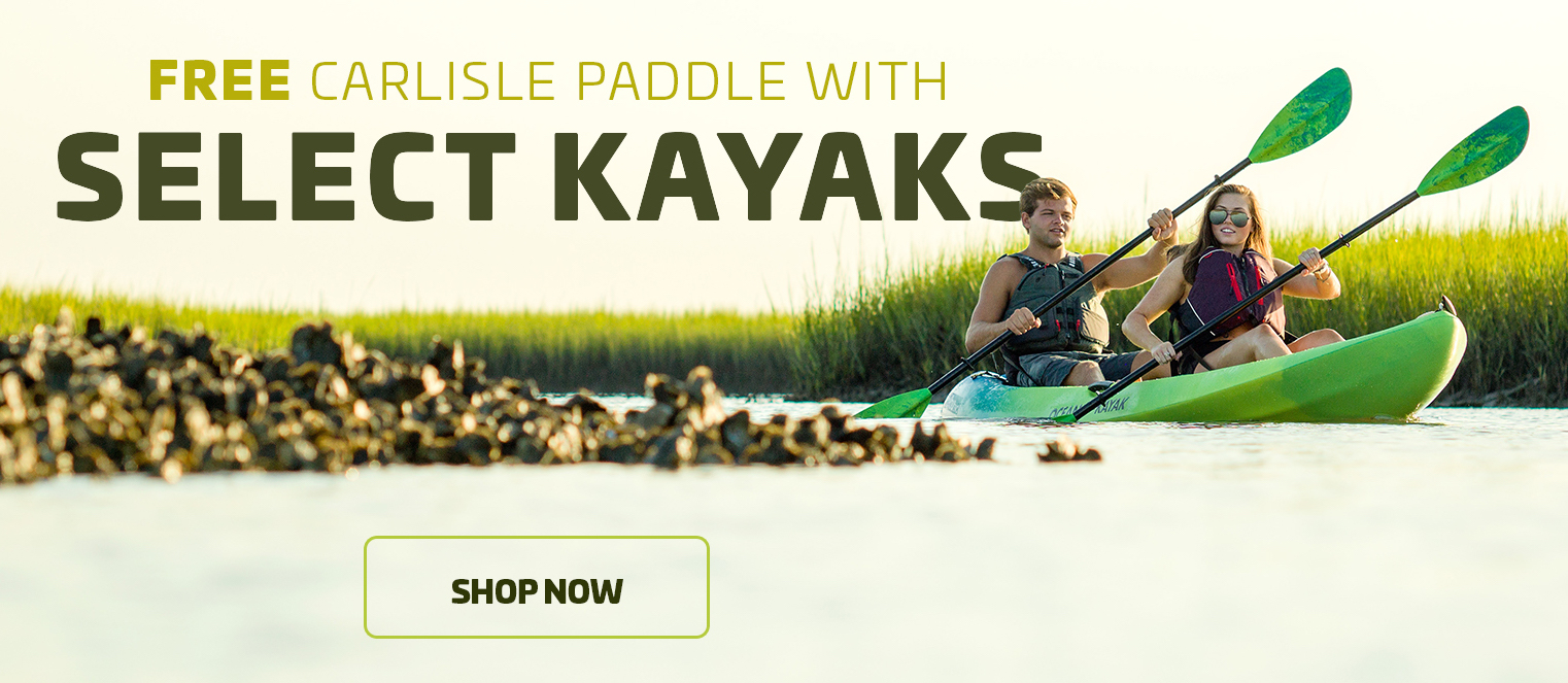 FREE PADDLE WITH SELECT KAYAKS