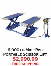 6,000 lb Mid-Rise Portable Scissor Lift