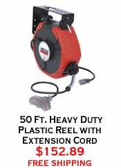 50 Ft. Heavy Duty Plastic Reel with Extension Cord