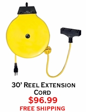 30' Reel Extension Cord