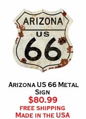 Arizona US 66 Metal Sign