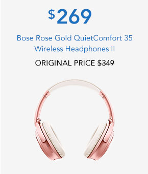 Bose Rose Gold QuietComfort 35 Wireless Headphones II