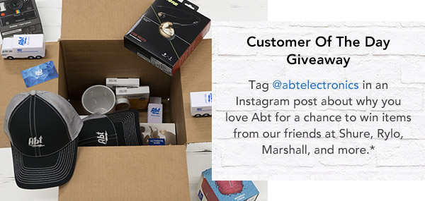 Enter our Customer of the Day Giveaway