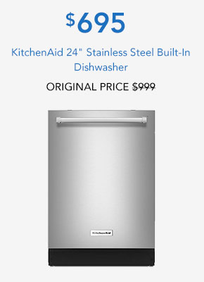 KitchenAid 24 Stainless Steel Built-In Dishwasher