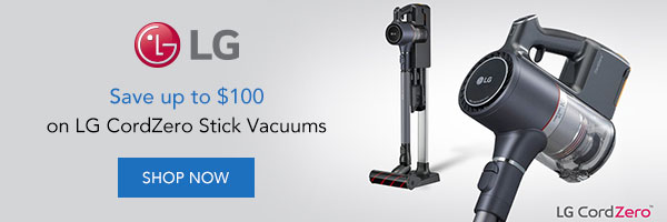 Save up to $100 on LG Vacuums
