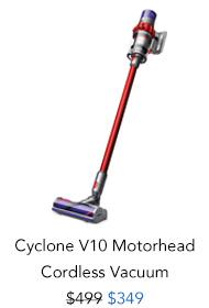 Shop Dyson Cyclone V10 Motorhead Cordless Vacuum