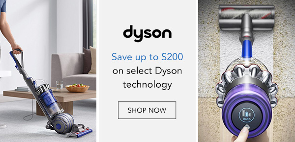 Save up to $200 on Dyson vacuums