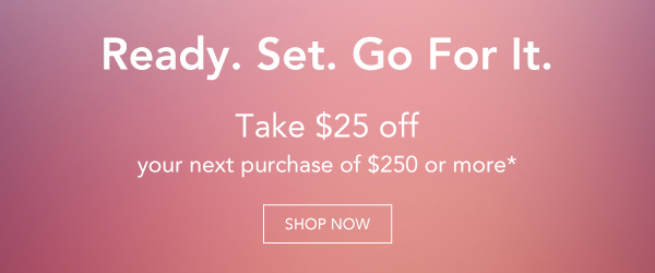 Take $25 off your next purchase of $250 or more