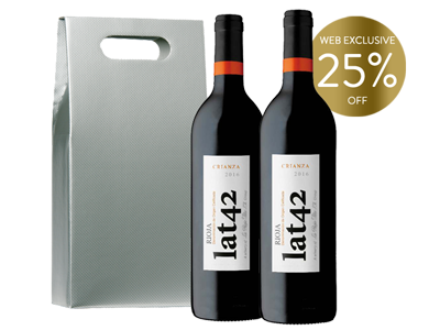 Lat 42 Rioja Crianza - Double Bottle Gift Set