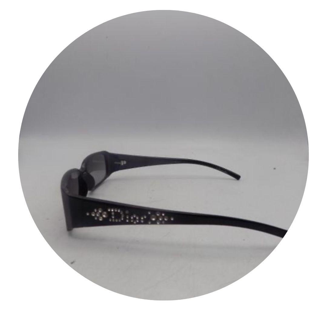 Christian Dior Sunglasses Black W/ Crystal Logo