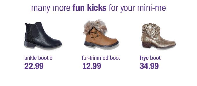 many more fun kicks for your mini-me