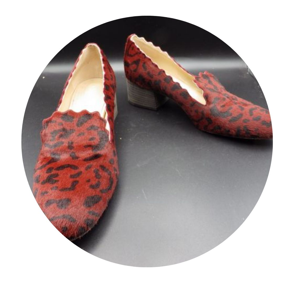 Chloe Women's Red & Black Heels Size 39