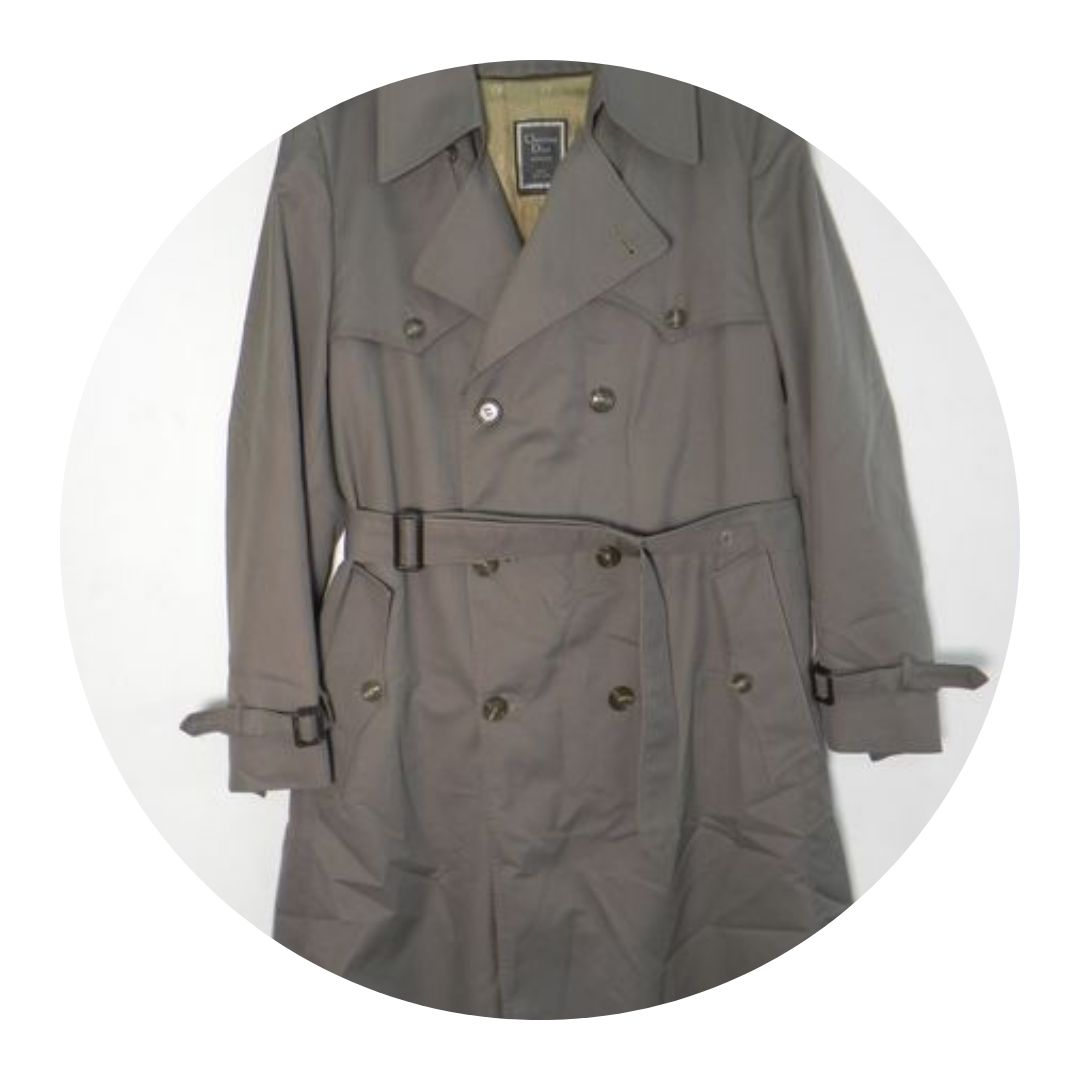 Christian Dior Monsieur Trench Coat Taupe 42l