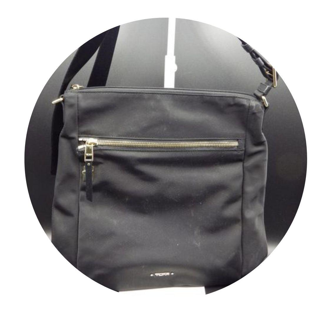 Tumi Black Nylon Swingback Bag
