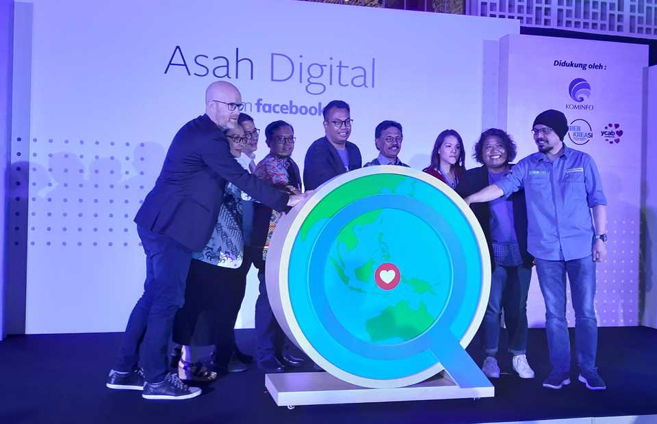 The launch of Facebook's Asah Digital campaign in Jakarta on Wednesday was attended by Communication and Information Technology Minister Johnny G. Plate. (JG Photo/Diana Mariska)