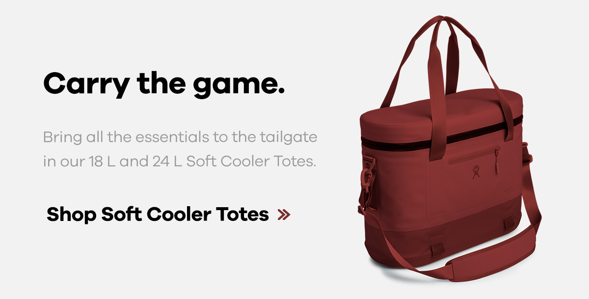 Carry the game. Bring all the essentials to the tailgate in our 18 L and 24 L Soft Cooler Totes. | Shop Insulated Totes >>