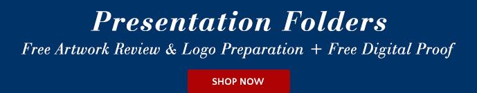 Presentation Folders - Free Artwork Review & Logo Preparation + Free Digital Proof