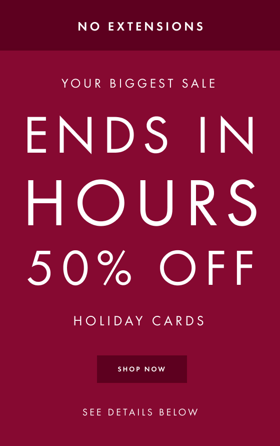 50% off Holiday Cards