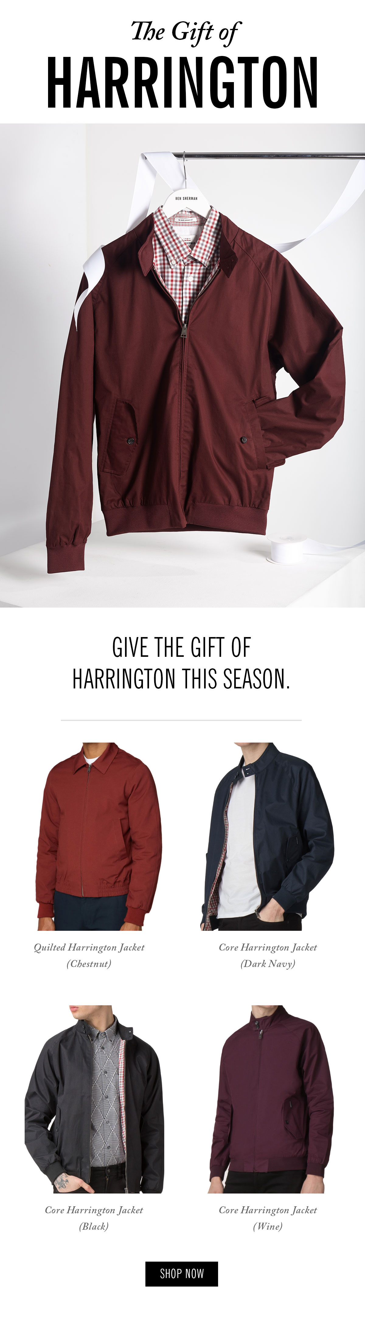 Give the gift of Harrington jackets this season. | Shop Now