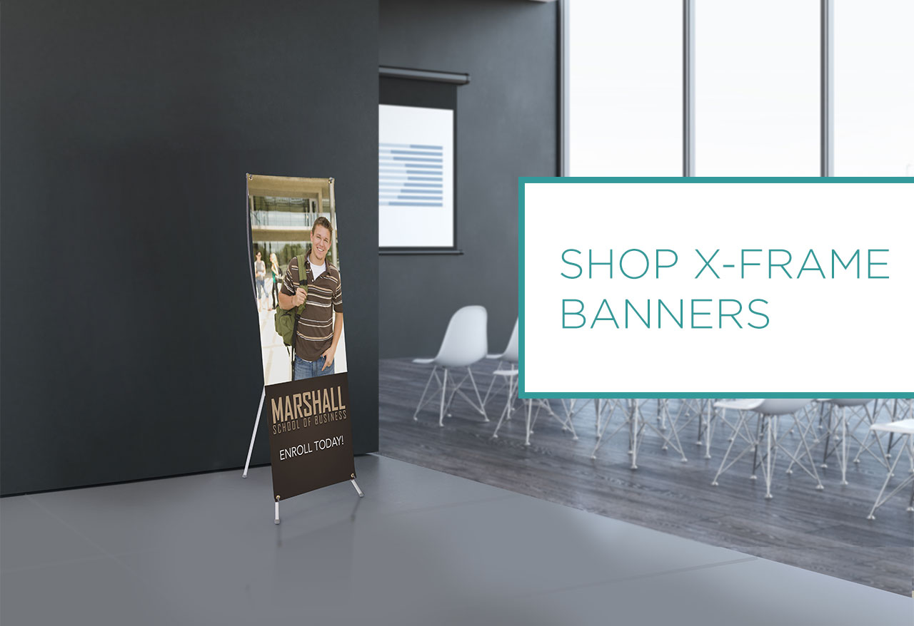 SHOP X-FRAME BANNERS