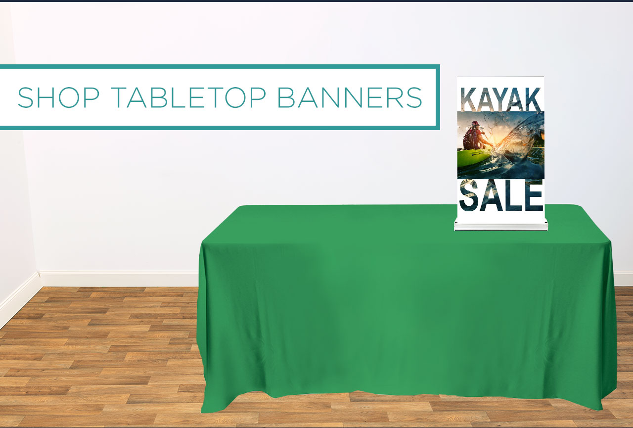 SHOP TABLETOP BANNERS
