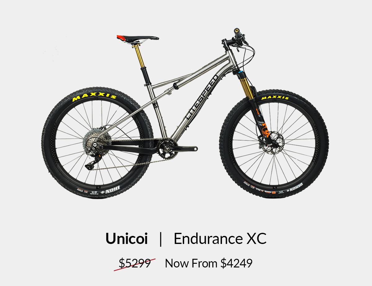 Unicoi: Endurance XC bike from $4249. Shop now!