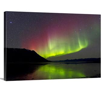 Aurora Borealis with Big Dipper over Kluane Lake, Yukon, Canada