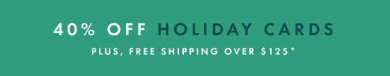 40% off Holiday Cards