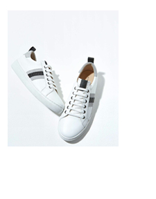 Allie White Studded Trainers