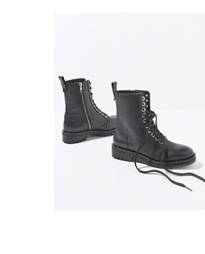 Debbie Black Leather Boots