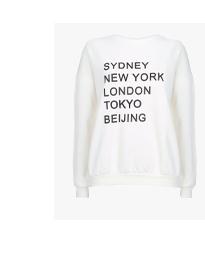 White City Print Sweatshirt