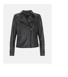Black Multi Zip Leather Jacket
