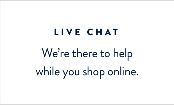 Live Chat | Shop Now