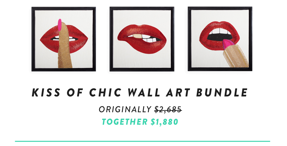 Kiss of Chic Wall Art Bundle | Shop Now