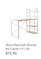 Metal Desk with Shelves