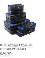 8-Pc Luggage Organiser
