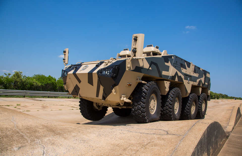 Paramount's new generation infantry combat vehicle, the Mbombe 8. (Photo courtesy of the Paramount Group)