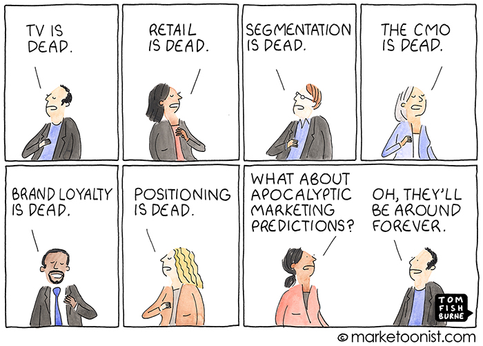 Long Live Marketing cartoon